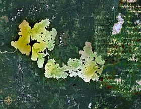 Озеро абитиби космический снимок nasa