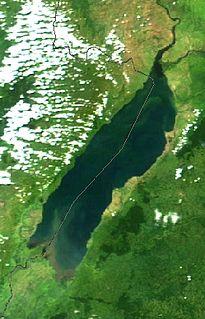Lake Albert (Africa) Lake in Uganda and the Democratic Republic of the Congo