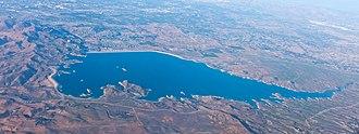 Lake Mathews - Lake Mathews from the air