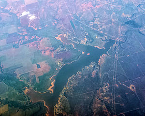 Stamford, Texas - Lake Stamford from 34,000 feet