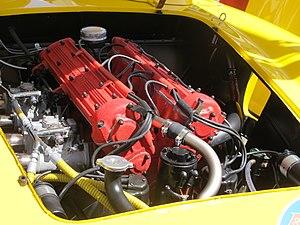 Aurelio Lampredi - A Lampredi four cylinder engine in a Ferrari sports racing car