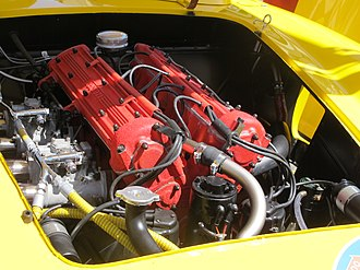 Aurelio Lampredi - A Lampredi four cylinder engine in a Ferrari sports racing car