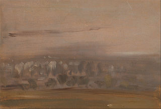 Landscape with Trees on a Slope