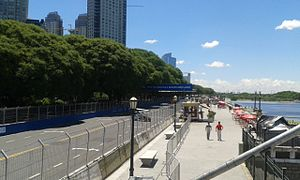 Puerto Madero Street Circuit - Puerto Madero Street Circuit, previous to the 2015 Buenos Aires ePrix.