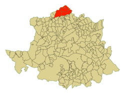 Location in the province of  Cáceres
