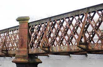 Llandeilo - The railway bridge over the Tywi is currently (2011) under restoration.
