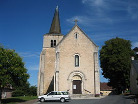The church in Lazenay