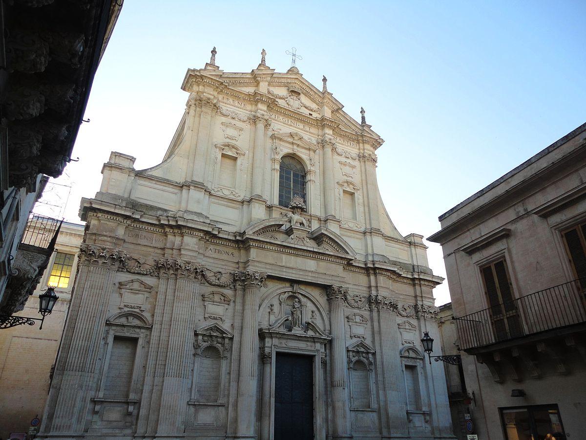 Chiesa di sant 39 irene lecce wikipedia - Architetto lecce ...