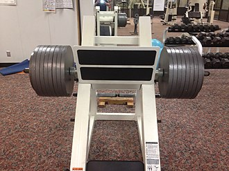 Leg press - A loaded leg press machine, used for strength exercises of the lower body.