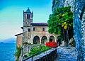 Leggiuno Monastero di Santa Caterina del Sasso Chiesa Esterno 7.jpg