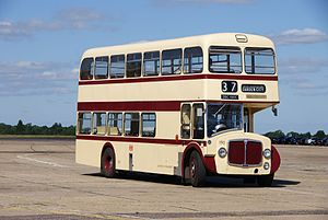 Leicester City Transport bus 190 (DBC 190C), 2010 North Weald bus rally.jpg