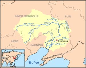 Liao River - Image: Liaorivermap