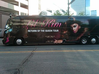 Lil' Kim - Lil' Kim's tour bus from her Return of the Queen Tour, photographed in 2012