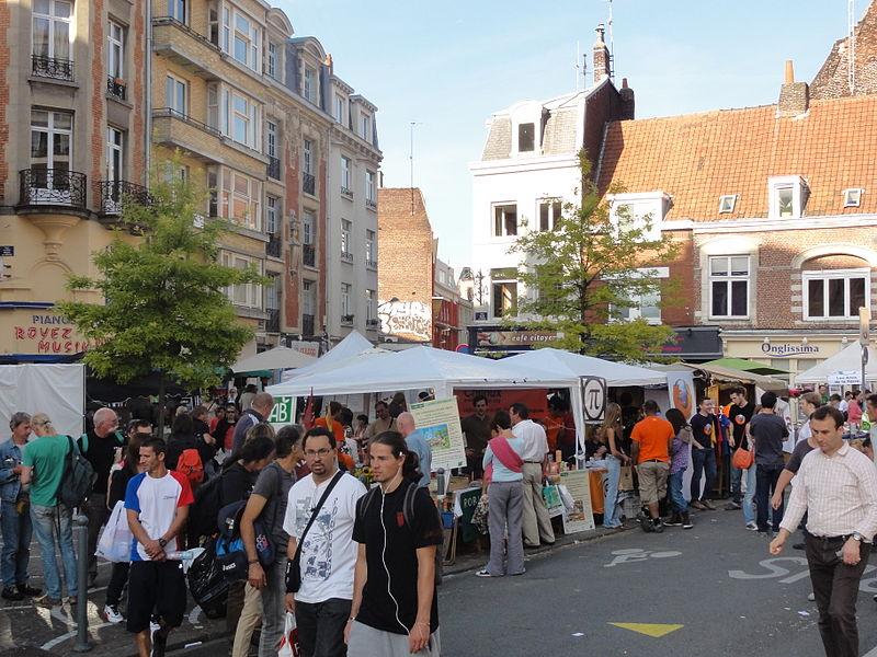 L'édition 2012 de la Braderie de Lille s'est déroulée du samedi 1er au dimanche 2 septembre. Le «village du libre».