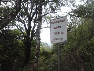 Ngäbe-Buglé Comarca - Image: Limites de Veraguas y la Comarca Ngäbe Buglé
