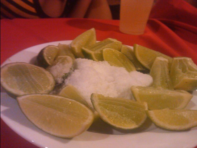 Limones con sal
