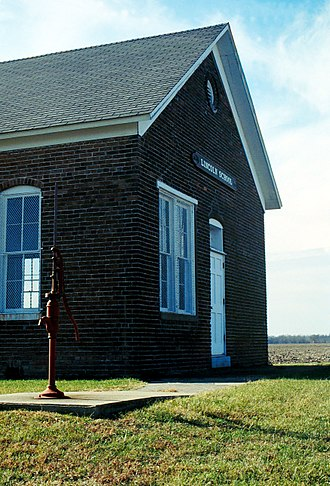 Martinsville, Illinois - The Lincoln School Museum was once a one-room schoolhouse. Today it is a museum showcasing primary education of the late 19th century.