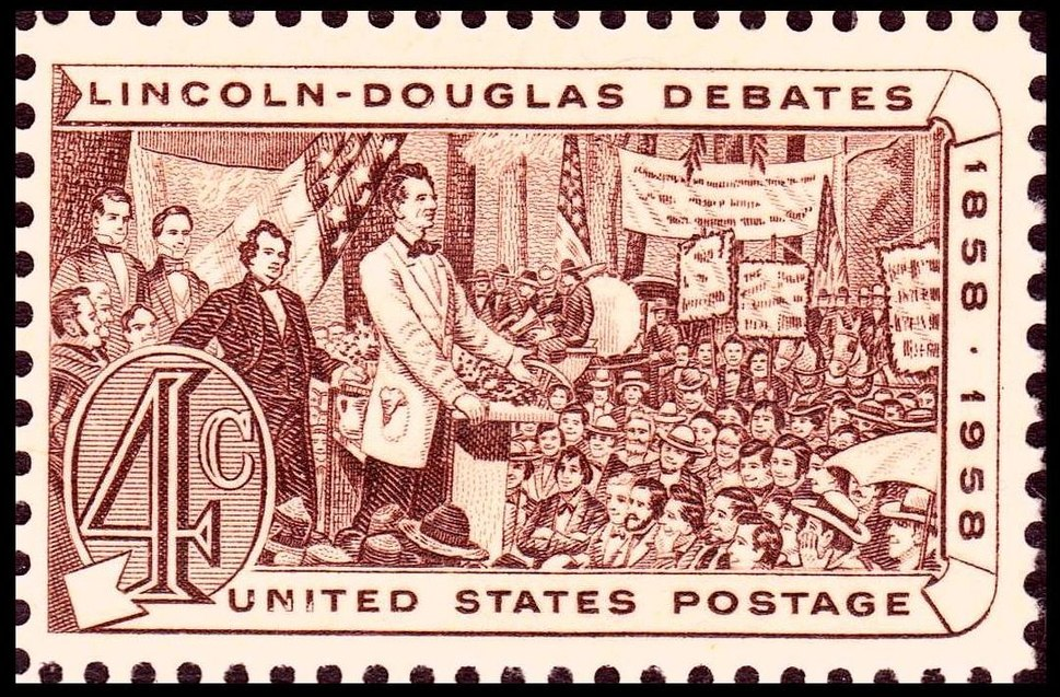 Lincoln Douglas debates of 1858 1958 Issue-4c