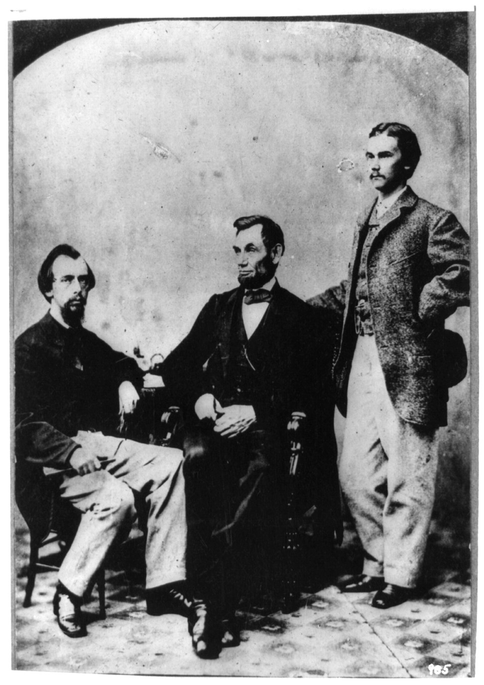 Lincoln and his secretaries.tiff