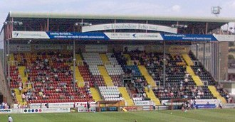 Lincoln City F.C. - The Lincolnshire Echo Stand at Lincoln's Ground, Sincil Bank.