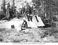 Lindsley campsite with tent and supplies, Lyman Lake, September 27, 1909 (LL 978).jpg