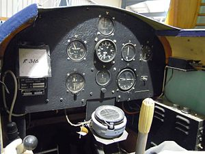 Link Trainer - The instrument panel of the Link Trainer at the Shuttleworth Collection in the UK