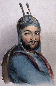 Lithograph of Akbar Khan in 1842.jpg