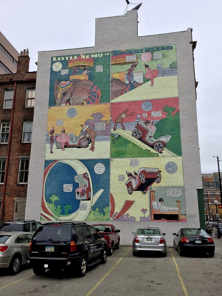 File little nemo in slumberland mural downtown cincinnati for Cincinnatus mural