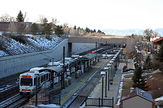 Littleton–Downtown station - The Littleton - Downtown station in Littleton, Colorado.