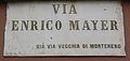 Livorno Via Enrico Mayer street name 01.JPG