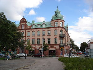 Ljungby - Tellushuset is one of the few historical buildings that wasn't destroyed in the 1953 fire. The former city center, that existed before the fire, was built in a similar style.