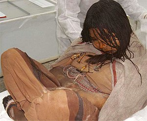 Child sacrifice in pre-Columbian cultures - The maiden. Llullaillaco mummies in Salta province (Argentina).