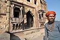 Local folk at Chaturbhuj Temple.jpg