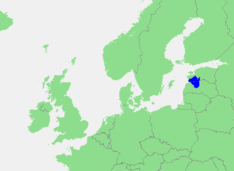 Gulf of Riga - Location in Northern Europe.