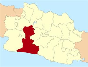 Cianjur, Cianjur Regency - Cianjur Regency in West Java between Sukabumi Regency and West Bandung Regency.