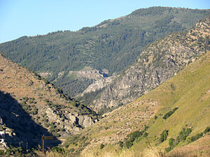 Logan Canyon - Mouth of Logan Canyon as viewed from Logan, Utah