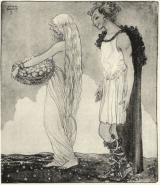 File:Loki and Idun - John Bauer.jpg