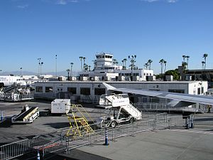 Long Beach Airport - The old terminal building as viewed from the flight line in 2009.