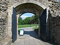 Looking from the inside of the castle out, through the arch - geograph.org.uk - 831996.jpg