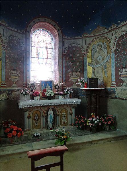 St. Alban Church, Lormes, Nièvre, France. Chapel of the Virgin.