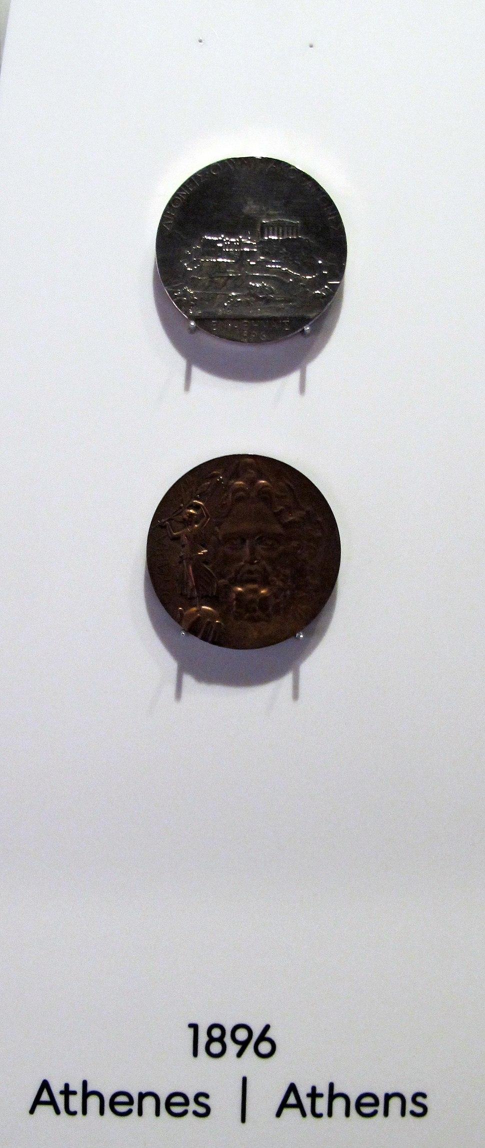Losanna, museo olimpico, medaglie di 1896 atene