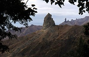 Geography of Saint Helena - Picture of 'Lot' and 'Lot's Wife'.