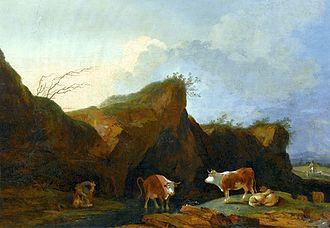 Philip James de Loutherbourg - Landscape with cows, Wilanów Palace, Warsaw