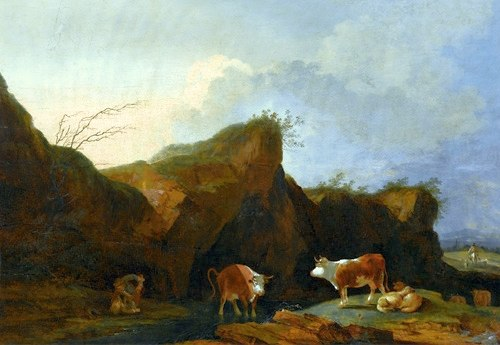 Loutherbourg Landscape with cows