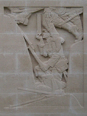 Relief on Cambrai Memorial (detail)
