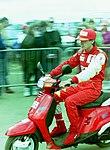 Luca Badoer in the paddock before the 1993 British Grand Prix (33302781330).jpg