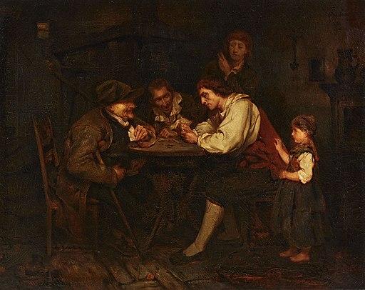 Ludwig Knaus - Die Spieler (um 1853)