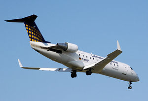 A Eurowings Bombardier CRJ200 in Lufthansa Reg...