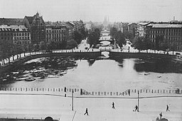 Luisenstädtischer Kanal mit Engelbecken, um 1900