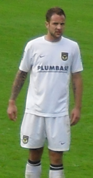 Luke Foster - Foster playing for Oxford United in 2009